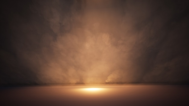 Stage white smoke and spotlight