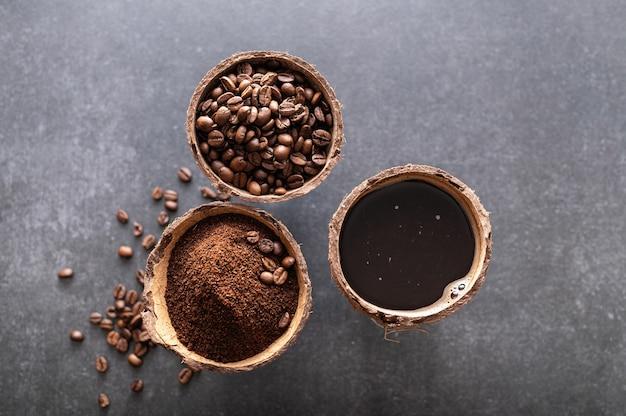 Этапы приготовления черного кофе