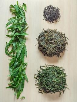 発酵茶葉の生産段階。発酵イヴァン茶。