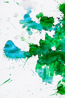 Stain of a green and turquoise water color