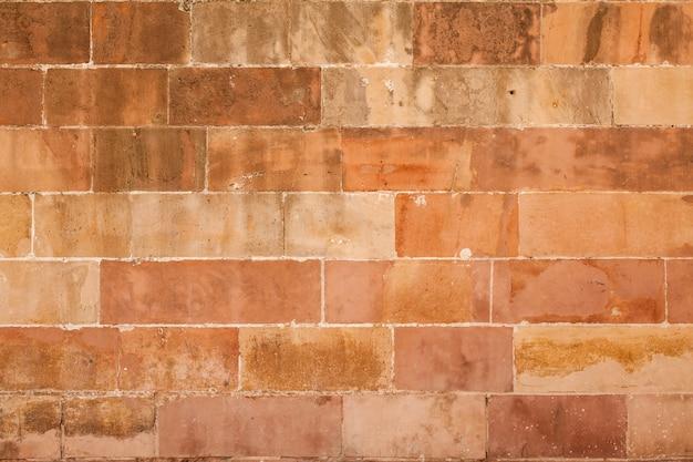 Struttura di muro di mattoni macchiati