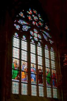 Витраж в соборе святого вита в праге