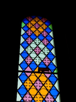 Stained glass window in rhodes greece