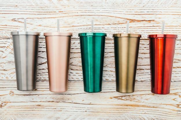 Нержавеющая и стаканная чашка