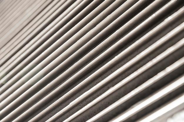 ステンレス金属の水平線の背景