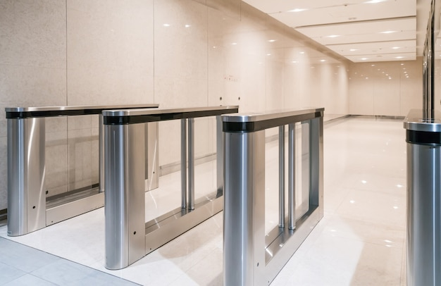 Stainless steel entrance guard at apartment entrance