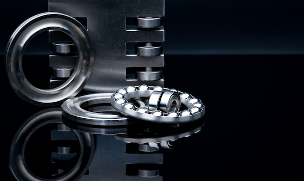 Stainless steel thrust ball bearing and linear bearing