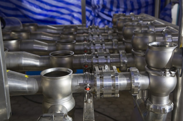 Stainless valve and pipeline process