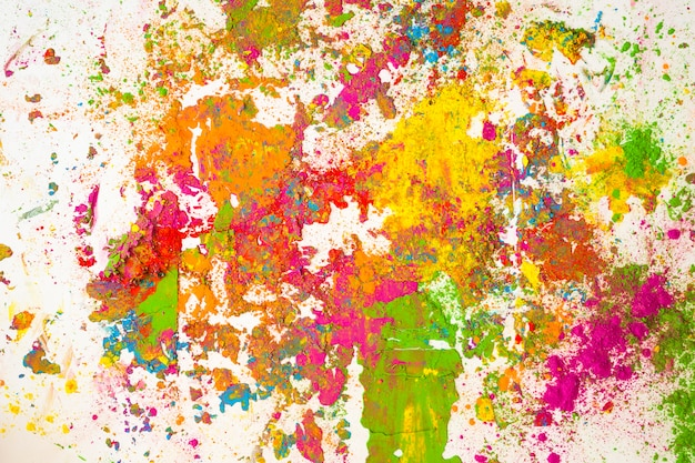 Stains of different bright dry colors