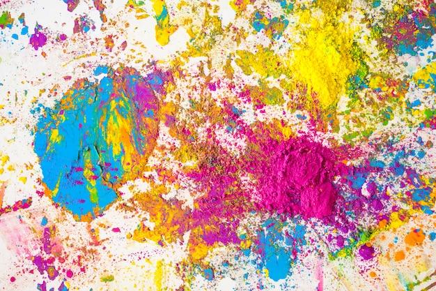 紫、青、緑、黄色の明るい乾燥色の染み