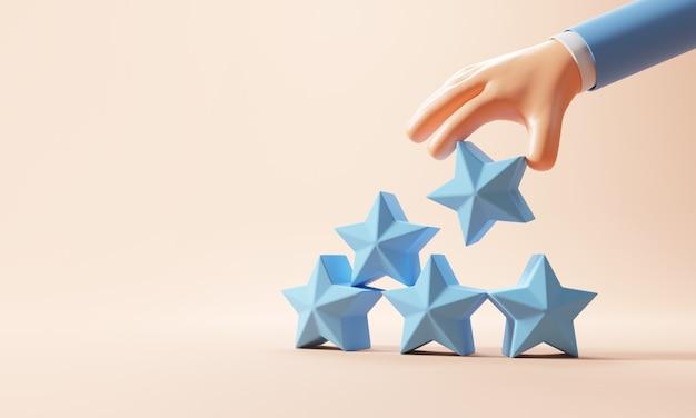 Форма лестницы с символом пяти звезд