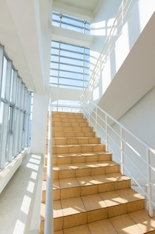 Staircase - emergency exit in hotel, close-up staircase, interior staircases