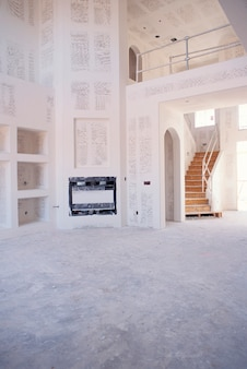 Staircase in empty room