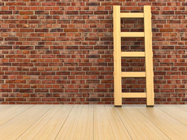 Лестница в комнате.