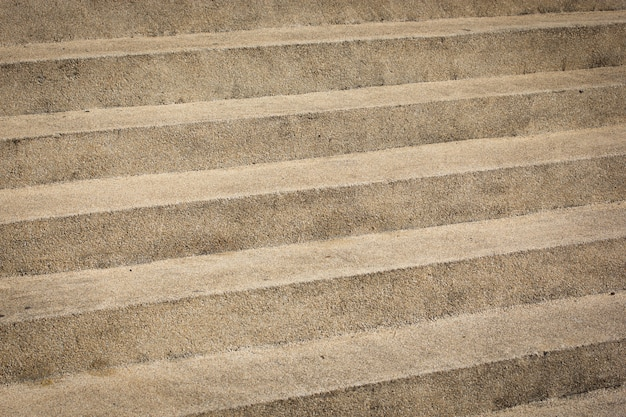 砂利でできた階段または歩道の表面