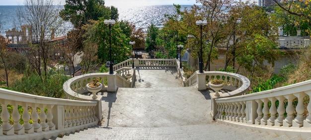 Staircase to the sea in odessa, ukraine