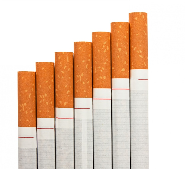 Stairway to hell out of cigarettes isolated