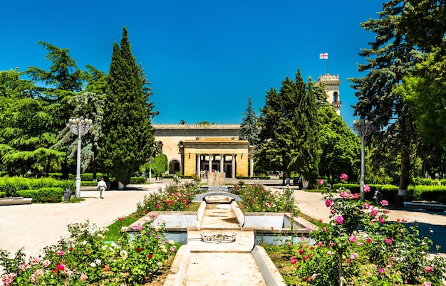 The stalin park in gori, georgia. gori is the birthplace of joseph stalin