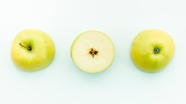 Stalk calyx seeds and pulp of apple