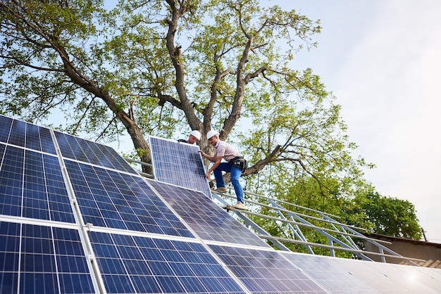 Stand-alone solar panel system installation, renewable green energy