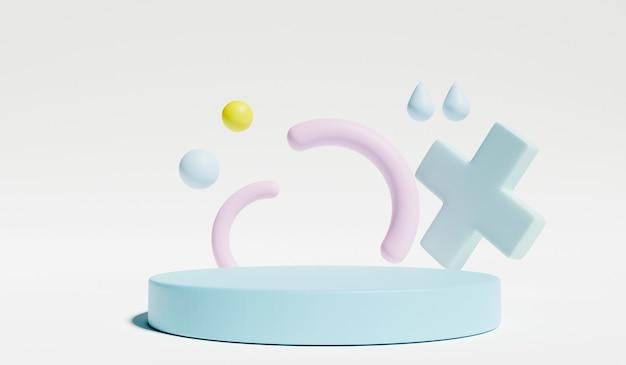 Подставка и отображение пастели в интерьере детской комнаты. 3d-рендеринг.
