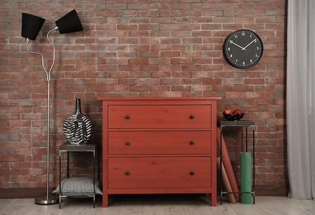 モダンなリビングルームに設置されたテレビのスタンド