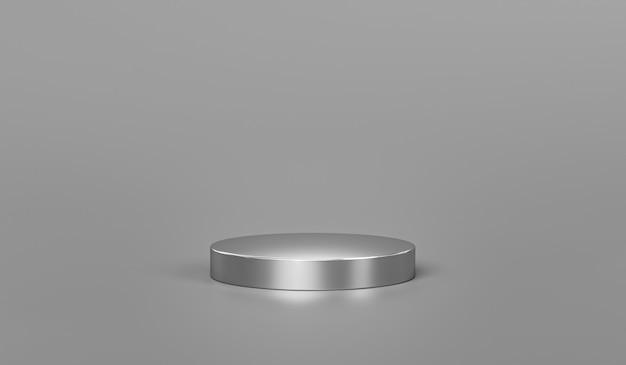 Подставка или пьедестал подиума на металлическом стальном дисплее