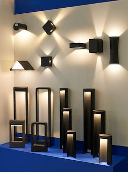 Stand with garden and architectural led lamps
