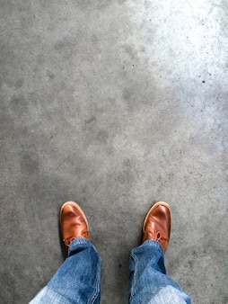 Standing on the asphalt