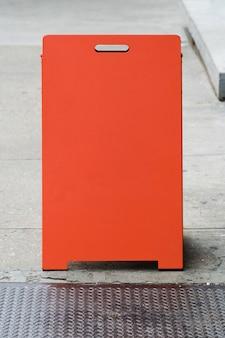 Шаблон рекламного щита перед магазином