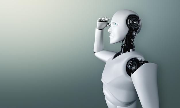 Стоящий робот-гуманоид