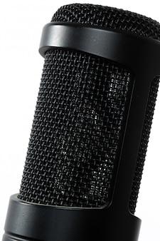Standing microphone in studio
