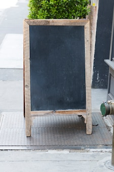 Standing restaurant chalkboard sign template