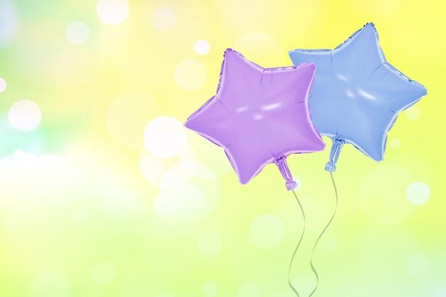 Star balloon on blur background