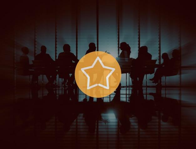 Star best success reward prize excellent great concept