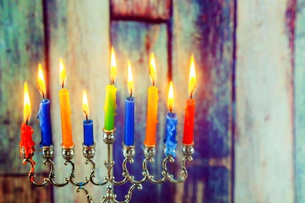 Star of david hanukkah menorah