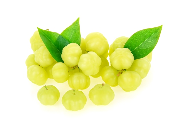 Star gooseberry on white background