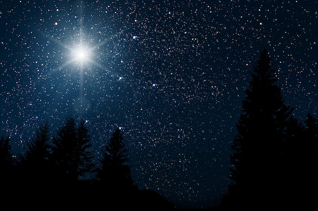 The star indicates the christmas of jesus christ