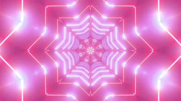 Star shaped 4k uhd abstract art motion design 3d illustration concert background