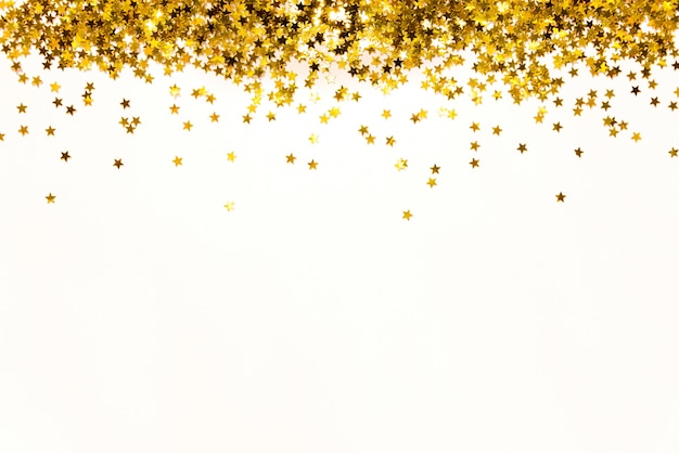 Star shaped golden sequins background