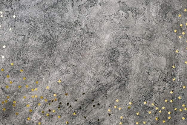 Star spangles scattered on grey table
