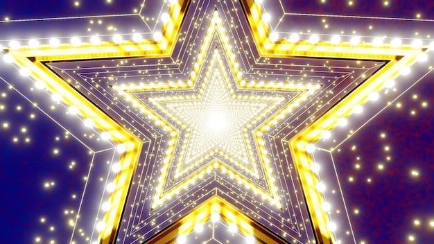 Звездные этапы туннеля фон для рекламы на фестивале и праздновании сцены Premium Фотографии