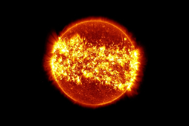 星の太陽、黒の背景に。この画像の要素はnasaによって提供されました。高品質の写真