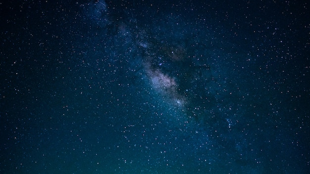Star with milky way universe background
