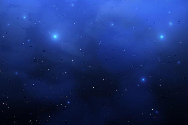 Stardust night sky with mist.