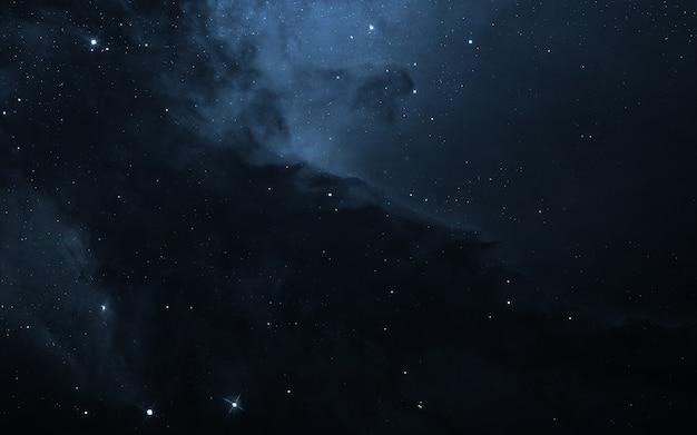 Звездное поле в глубоком космосе на много световых лет от земли. элементы этого изображения, предоставленные наса