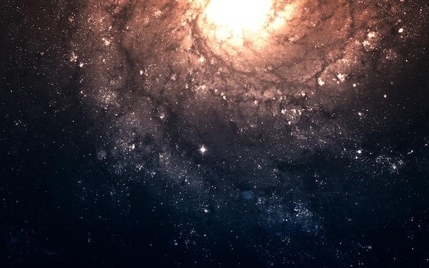 지구에서 수 광년 떨어진 깊은 우주에서 starfield. nasa에서 제공 한이 이미지의 요소