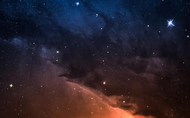 地球から何光年も離れた深宇宙のスターフィールド。 nasaによって提供されたこの画像の要素