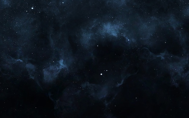 Звездное поле в глубоком космосе на много световых лет от земли.