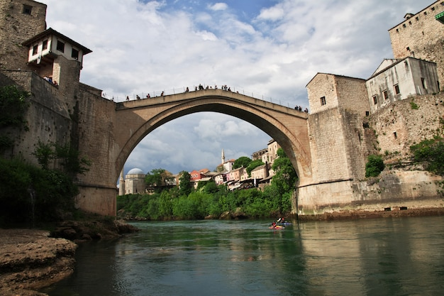Stari most - the old bridge in mostar, bosnia and herzegovina